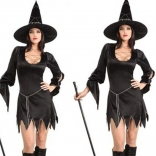 Black Halloween Witch Uniform Temptation