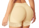 (Plus Size) Beige Sexy Carry Buttock Pants
