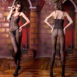 Sheer Suspender Tank Body Stocking