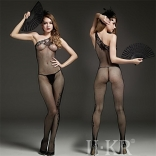 Seductive Neck Crotchless Bodystocking