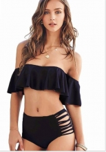 High Waist Swimsuit Black