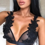Black Lace Women Sexy Bralettes