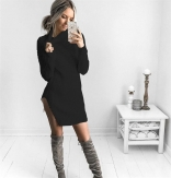 Black Long Sleeve Women Knitted Sweaters