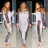 Gray Long Sleeve Sequins Bodycons Sexy Jumpsuit