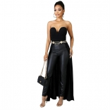 Black Off-Shoulder Sleeveless Women Fashion Tops
