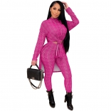 RoseRed Long Sleeve Fashion Hound-tooth Printed Women Catsuit Dress