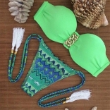 Green New Fashion Women Bikini Swimwear