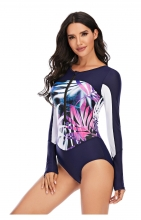 Pink Printed Fashion Sexy Surfing Swimming One-Pieces